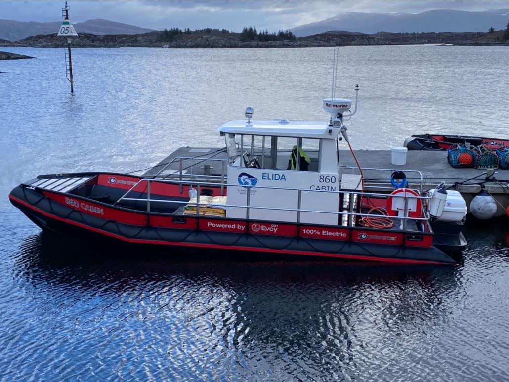 Elbåten Elida, levert av Evoy - E. Karstensen Fiskeoppdrett - www.karstensen.no